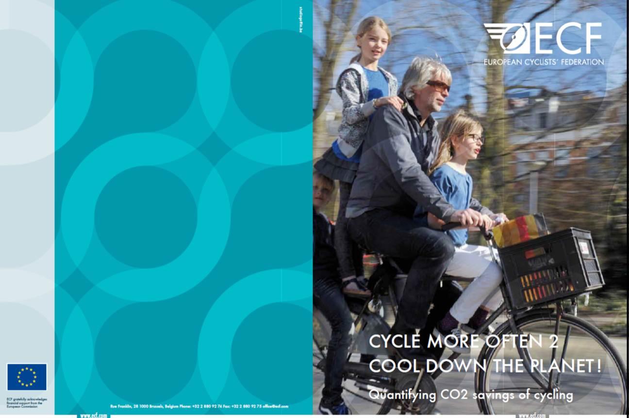 การสงวนการปล่อยก๊าซเรือนกระจกของการใช้จักรยานในระดับที่เป็นอยู่ในปัจจุบัน