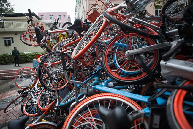 13 เมืองใหญ่จีนห้ามขาด ขยายธุรกิจแชร์จักรยาน