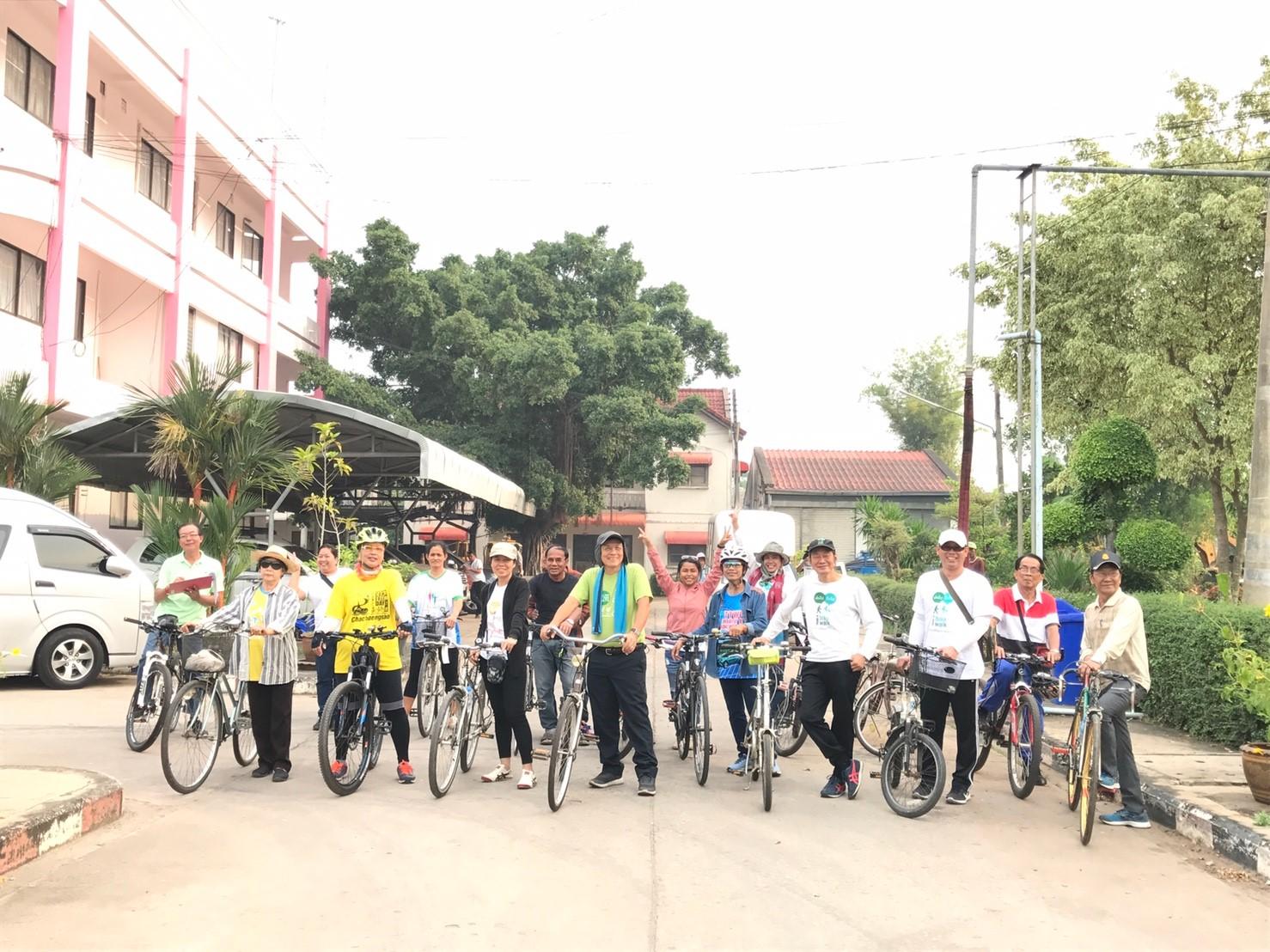 ประชุมเชิงปฏิบัติการกับชุมชนนอกเมืองและในเมือง เพื่อเตรียมความพร้อม กับคนในพื้นที่ร่วมทำเมือง-ชุมชนเดิน จักรยาน บางคล้า-งามดูพลี