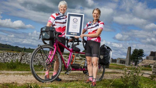 หญิงอังกฤษทำสถิติขี่จักรยานแทนเด็มรอบโลก
